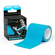 BronVit  Sport Kinesiology tape Uncut 1m x 5cm - modrá