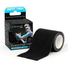 BronVit   Sport Kinesiology tape Uncut 1m x 5cm - černá