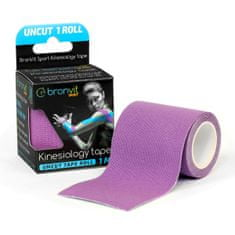 BronVit  Sport Kinesiology tape Uncut 1m x 5cm - fialová