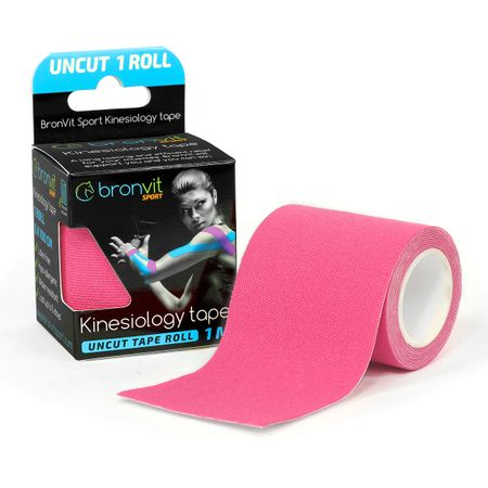 BronVit  Sport Kinesiology tape Uncut 1m x 5cm - růžová
