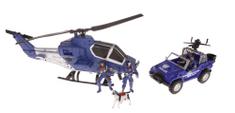 Alltoys Sada policie - akční set s vozidly a doplňky
