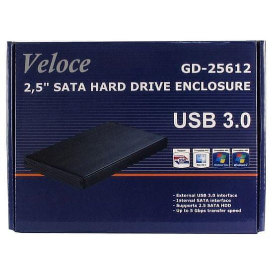 Inter-tech zunanje ohišje za disk GD-25612 Veloce, USB 3.0