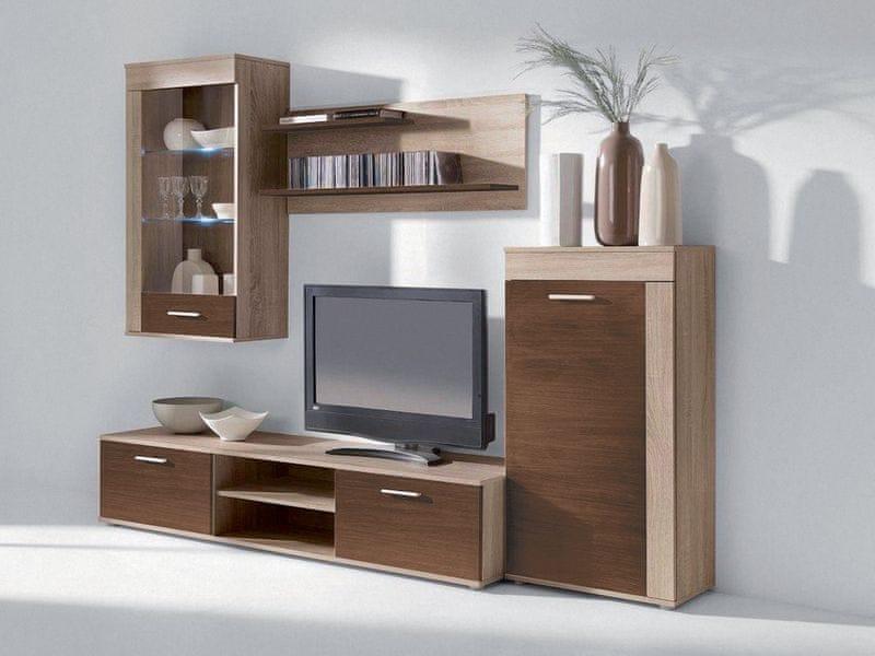VITO PLUS, obývací stěna, dub sonoma/dub čokoláda