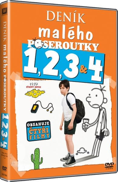 Kolekce Deník malého poseroutky 1-4 (4DVD) - DVD