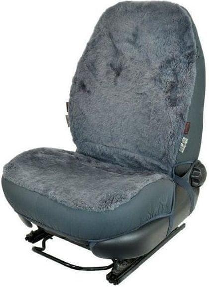 CarPoint Potah sedadla ovčí vlna šedá 1ks