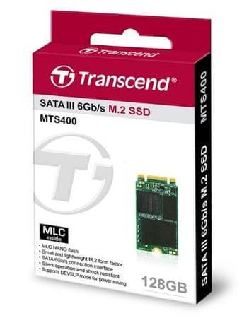 Transcend SSD disk MTS400 128 GB SATA3 M.2 2242