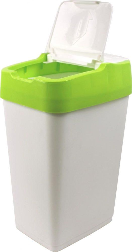 Heidrun Odpadkový koš Push Up 35 l zelená