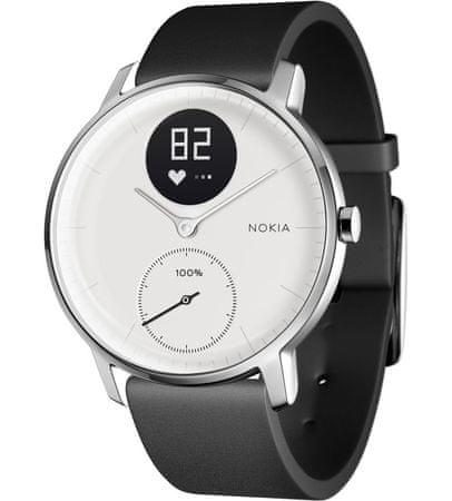 Nokia pametna ura Steel HR, bela, 36 mm