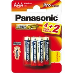 PANASONIC Baterie AAA 6ks Pro Power (LR03 6BP)