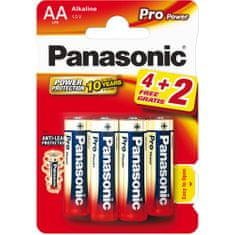 Panasonic Baterie AA 4ks Pro Power (LR6 6BP)