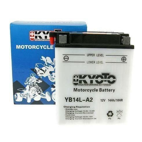 Baterie KYOTO 12V 14Ah YB14L-A2 (kysel. náplň součástí balení)