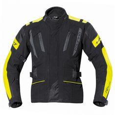 Held pánska moto bunda  4-TOURING Reissa čierna/fluo žltá