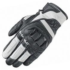 Held sportovní rukavice  SPOT na motorku, černá/bílá, hovězí/klokaní kůže