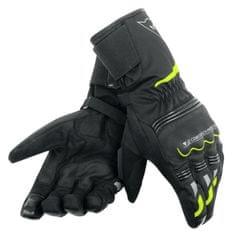 Dainese rukavice na motorku  TEMPEST D-DRY UNISEX černá/fluo-žlutá, textilní (pár)
