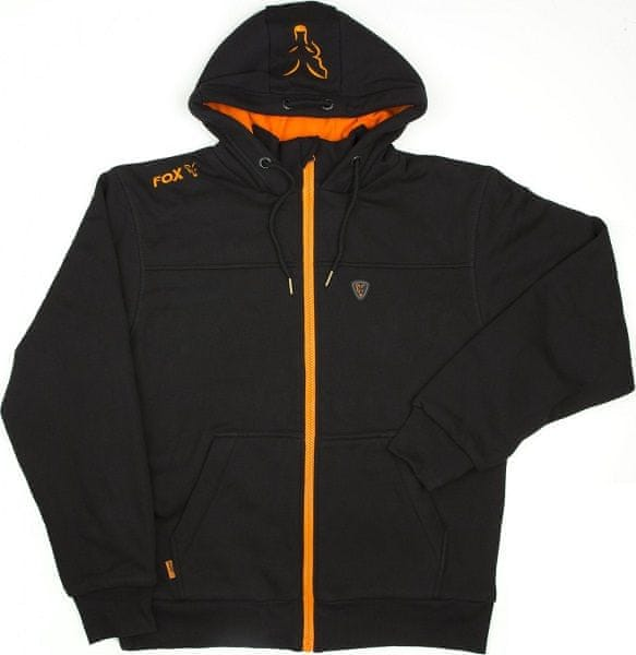 Fox Mikina Heavy Lined Hoody Black Orange M