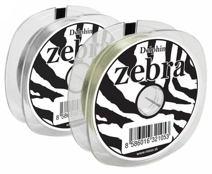 Delphin Vlasec Zebra Line Sv. Oliva 200 m 0,16 mm, 3,6 lb