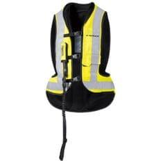 Held moto Airbag vesta  AIR VEST čierna/fluo žltá (rozšírený pas)
