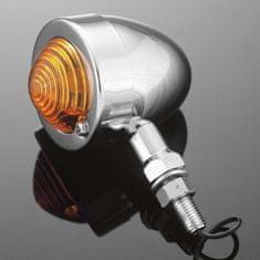 Highway-Hawk světlo na motorku  BULLET s dlouhou nožičkou, chrom (1ks)