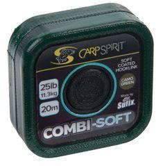 Carp Spirit Návazcová Šňůra Combi Soft Camo Green 20 m