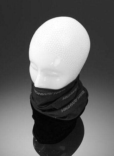 Highway-Hawk šátek, černý s šedým potiskem