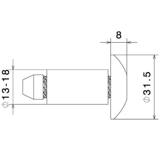 Rizoma koncovky riadidiel-Zátky kónické, 13-18mm (2ks)