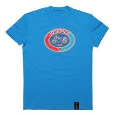 Dainese pánské triko s krátkým rukávem  MOTO 72 modrá