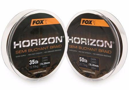 Fox Splétaná Šňůra Horizon Semi Buoyant Camo Braid 300 m 0,30 mm, 22,73 kg