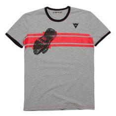 Dainese pánské triko s krátkým rukávem  GLOVE antracitová