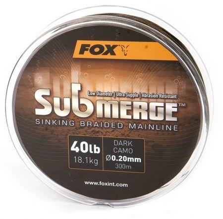 Fox Splétaná Šňůra Submerge Sinking Braided Mainline Camo 600 m 0,20 mm, 18,1 kg