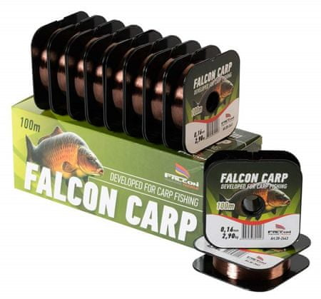 Falcon Vlasec Carp Tmavá Měď 100 m 0,35 mm, 11,60 kg