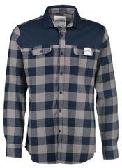 AQUA PRODUCTS Aqua Flanelová Košile Long Sleeve Blue Check Flannel Shirt