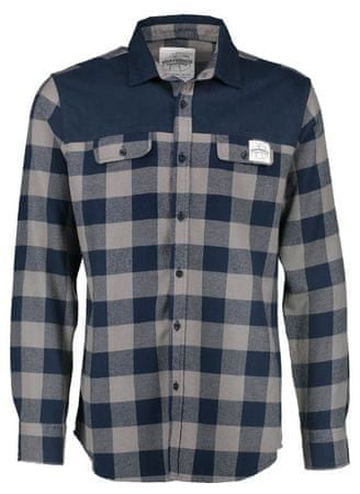 AQUA PRODUCTS Aqua Flanelová Košeľa Long Sleeve Blue Check Flannel Shirt XL