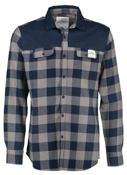 AQUA PRODUCTS Aqua Flanelová Košile Long Sleeve Blue Check Flannel Shirt XXL