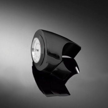 Highway-Hawk hodinky ANGLE na řídítka o průměru 25/32mm, černá/bílý ciferník