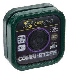 Carp Spirit Návazcová Šňůra Combi Stiff Camo Green 20 m