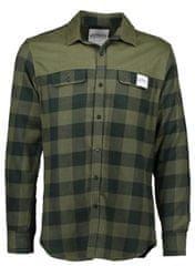 AQUA PRODUCTS Aqua Flanelová Košile Long Sleeve Green Check Flannel Shirt