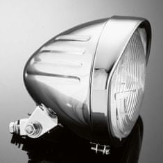 Highway-Hawk hlavní motocyklové světlo  TECH GLIDE, d=140mm, E-mark, chrom (1ks)