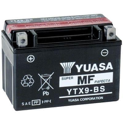 Yuasa baterie 12V 8Ah YTX9-BS (dodáváno s kyselinovou náplní)