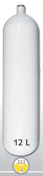 EUROCYLINDER Lahev ocelová 12 L průměr 171 mm (dlouhá) 230 Bar
