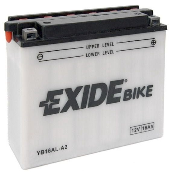 Exide baterie EB16AL-A2, 12V 16Ah, za sucha nabitá s antisulfační úpravou. Náplň součástí balen