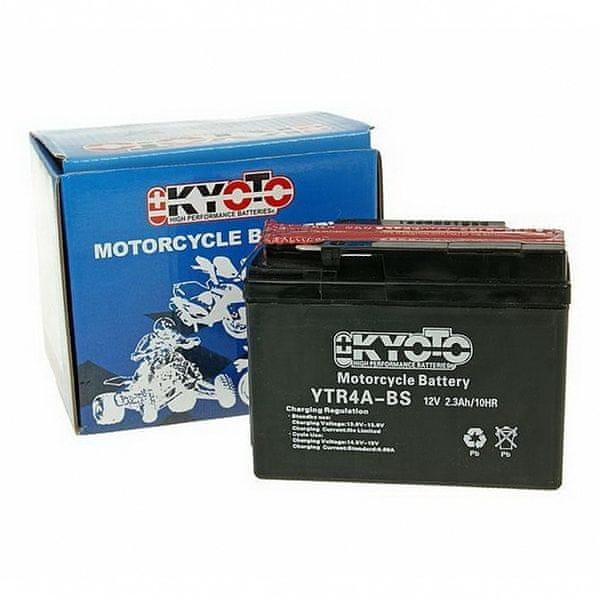 Baterie KYOTO 12V 2,3Ah YTR4A-BS (dodáváno s kyselinovou náplní)