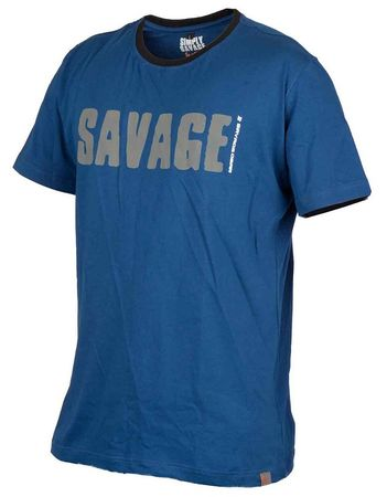 Savage Gear Triko Simply Savage Tee Blue L