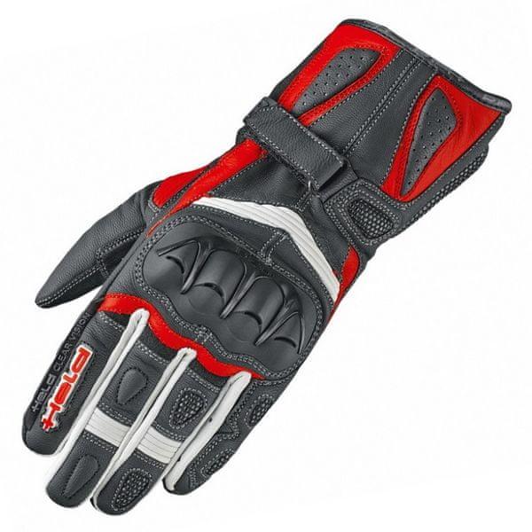 Held dámské rukavice MYRA vel.7 černá/červená, kozí/klokaní kůže