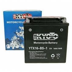 Baterie KYOTO 12V 14Ah  YTX16-BS-1 (dodáváno s kyselinovou náplní)