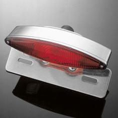 Highway-Hawk koncové světlo na motorku TECH GLIDE s držákem SPZ, E-mark, chrom (1ks)