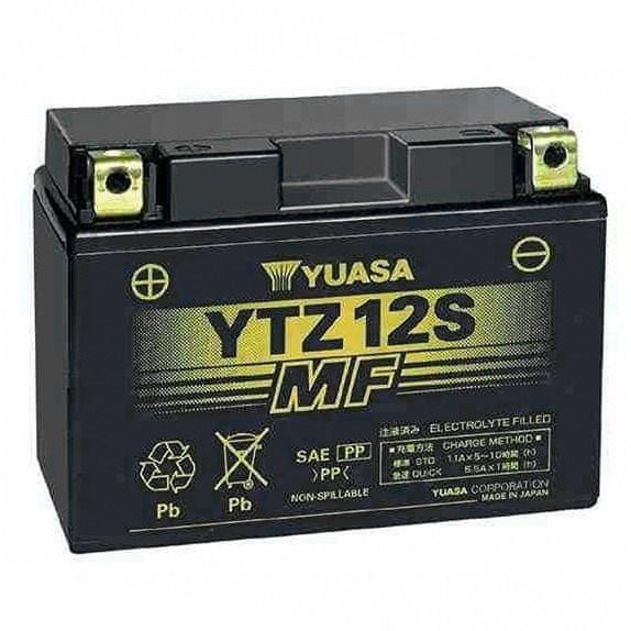 Yuasa baterie 12V 11Ah YTZ12S (dodáváno s kyselinovou náplní)