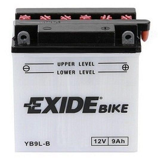 Exide baterie EB9L-B, 12V 9Ah, za sucha nabitá s antisulfační úpravou. Náplň součástí balení.