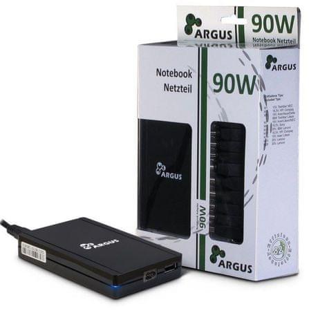 Inter-tech univerzalni napajalnik za prenosnike Argus USN90-UCB, 90 W