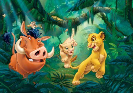 Walplus Fototapeta Leví kráľ - Simba a Pumba 254x184 cm
