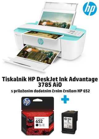 HP brizgalni tiskalnik All In One DeskJet Ink Advantage 3785 (T8W46C)